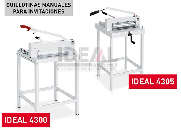 Guillotinas de papel para invitaciones: IDEAL 4300 - IDEAL 4305