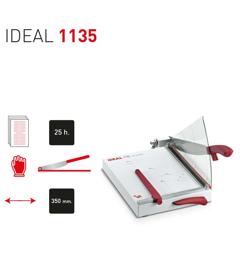 Cizalla de papel profesional -IDEAL 1135